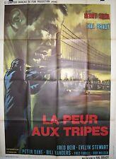 Affiche LA PEUR AUX TRIPES. 120 x 160 cms. Hal Brady, Henry Silva, Fred Beir