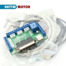 5 Axis CNC Breakout Board Interface Adapter 4 Stepper Motor Driver + Cable