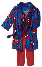 NWT SPIDERMAN 2T Toddler Boys Robe and Pajama 3-Piece Sleepwear Set Super Soft