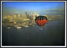 c.1980 ABOVE SAN FRANCISCO HOT AIR BALLOON,WATERFRONT&BAY~UNCIRCULATED POSTCARD