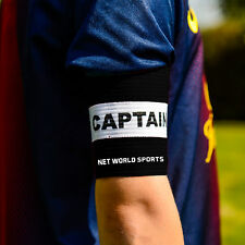 Football Captains Armband WHITE/BLACK JUNIOR Arm Band [Net World Sports]