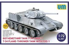 UNIMODELS 441 1/72 Russian T-34 flame-throwing tank with FOG-1