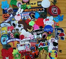 SALE HUGE PATCH LOT 50 pcs PATCHES NEW AND OLD SELECTION. sew on iron on variety