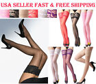 Super Sexy Silicone Lace Top Stay Up Thigh-Highs Stockings Pantyhose-7 Colors