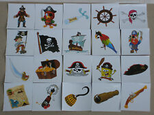 Pirate Stickers x 20, Adhesive, 5cm x 5cm, Peel and Stick