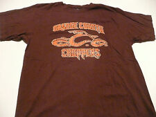 OCC ORANGE COUNTY CHOPPERS MENS LARGE BROWN T-SHIRT NEW WITH TAGS