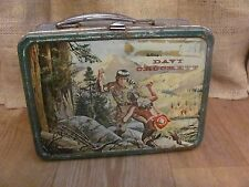 1955 Holtemp Metal DAVY CROCKETT Lunchbox #1903