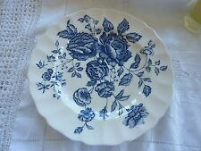 Vintage Elizabeth Pattern Bread Plates by Johnson Bros No. 188208 Blue on White