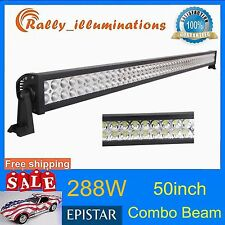 50inch LED Work Light Bar 288W Car Truck Offroad ATV SUV Boat Driving Jeep 52''