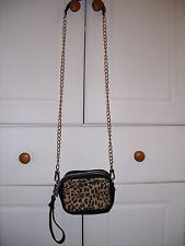 WOMENS PINK VICTORIA'S SECRET CROSSBODY ANIMAL PRINT HANDBAG PURSE NWOT