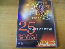 25 YEARS OF MUSIC VOL 3  DVD BANGLES NEIL YOUNG STING COSTELLO PAUL SIMON ETC