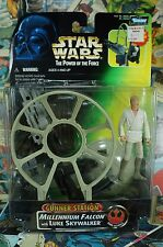 1997 Star Wars Power of the Force Gunner Station Millennium Falcon with Luke Sky