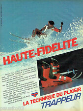 PUBLICITE ADVERTISING 056  1982  Chaussures de ski Trappeur Racing J.C Killy