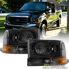 1999-2004 Ford F250 F350 F450 Super Duty Smoke Headlights w/ Bumper Corner Lamps