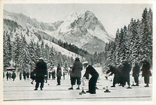 Curling Riessersee Germany Garmisch-Partenkirchen OLYMPIC GAMES 1936 CARD 1936