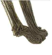 Wholesale 5 Pieces/Lot Bronze Plated Making DIY Hard Link Chain Necklace 30''