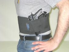 Tactical Belly Band Gun Pistol Concealed Weapon Duty Holster SWEAT BLOCK, LARGE