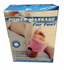 POWER MASSAGE FOR FEET SOFT COMFORTABLE BATTERY OPERATED HOME OFFICE TRAVEL