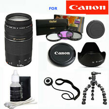 Canon EF 75-300mm f/4.0-5.6 III ZOOM LENS +TRIPOD +GIFTS FOR CANON EOS T3 T3I T5
