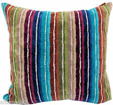 "MISSONI HOME 3D CHEVRON PILLOW COVER  16x16"" VELOUR COTTON SAUNA SPA NATHAN T70"