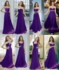 New 8 Types Cadbury Purple Chiffon Bridesmaids Dresses Evening Prom Gowns Party