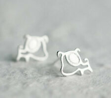 925 Sterling Silver - Korea Cute Hollow Dog Animal Stud Party Earrings Hot