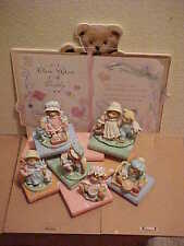 Cherished Teddies Once Upon A Teddy Nursery Rhymes Set 8 Pieces 1993 Mint Enesco