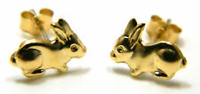 9ct Gold Bunny Rabbit Girls Stud Earring  – Solid 9ct Yellow Gold - Free Pouch