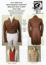 Mens Regency Tailcoat & Vest Costume 34-56 Laughing Moon Sewing Patterns 121/123