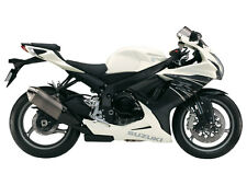SUZUKI TOUCH UP PAINT KIT GSXR600 2011 PEARL MIRAGE WHITE & MATT BLACK MET #2