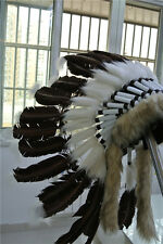 dark brow indian feather headdress indian warbonnet american costumes