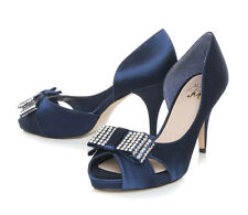 Stunning Kurt Geiger Miss KG Navy Blue Peeptoe High Heels Size 5 38 Ladies Shoes