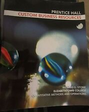 Custom Business Resources ISBN-13 978-0-536-14985-5