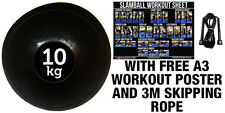 FXR SPORTS 10KG NO BOUNCE SLAM BALL CROSSFIT MMA FITNESS STRENGTH TRAINING