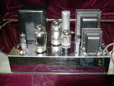 Rare MusiCraft M-60 M60 Mono 6550/KT88 Tube Amplifier 60 Watts Chrome/Black