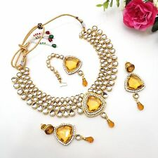 indian Jewellery Bollywood Bridal Ethnic Party Wear Kundan Necklace Set