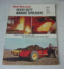 NEW HOLLAND 510 511 516 517 HEAVY DUTY MANURE SPREADERS 1965 BROCHURE