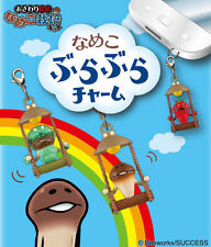 Japan Touch Detective Mushroom Garden Nameko Funghi Charm Hanging Re-ment M012