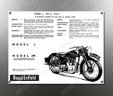 VINTAGE ROYAL ENFIELD 1938 MODEL J 499cc IMAGE BANNER NOS IMAGE REPRODUCTION