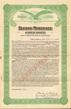 Second Mortgage Gold Note   1928 Chicago Illinois real estate certificate