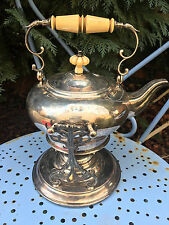 Samovar Theiere Et Son Rechaud Metal Argente Armand Frenais Argenterie