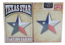 2 Decks Bicycle Texas Star Flag Standard Poker Playing Cards Sealed New In Box