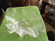 4 footed clear glass dish