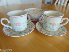 12 X Churchill Staffordshire Briar Rose Fine China Cup & Saucer Sets & 8 Saucers