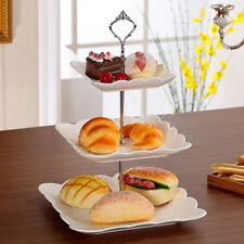 Stainless Silver Crown 3 Tier Cupcake Stand Wedding Birthday Cake Display Tower