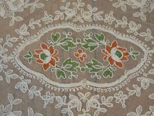 Antique FRENCH Tambour Net Lace Doily WEDDING Tray