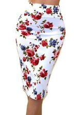 Women's Bodycon Skirt Floral Print Clinging Pencil Skirt