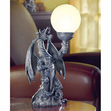 Dragon Accent Table Lamp, Medieval Gothic WEDDING, European Style, Fantasy Magic