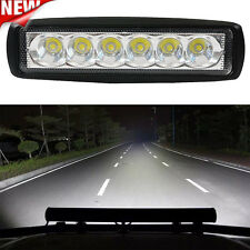 18W Flood LED Light Work Bar Lamp Driving Fog Offroad SUV 4WD Car Boat Truck ON