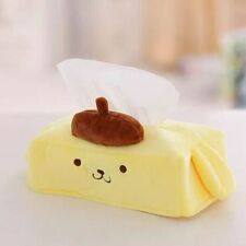 cartoon pom pom purin yellow pudding dog plush toy tissue box soft cover gift 1p